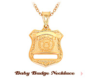 Baby Badge Necklace