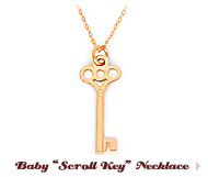 Baby 'Scroll Key' Necklace
