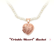 "Preppy Collection: ""Crinkle Heart"" Locket"