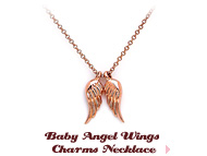 Baby Angel Wings Charms Necklace