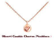 Heart Cookie Charm Necklace