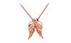 Baby Angel Wings Charm Necklace (pink)