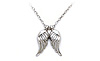 Baby Angel Wings Charm Necklace (white)