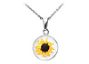 Sunflower Bloom Necklace (white)