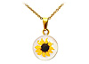 Sunflower Bloom Necklace (yellow)